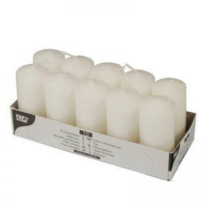 PAPSTAR - 10 bougies - Ø 40 mm x 90 mm - Blanc de la marque Papstar image 0 produit