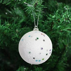Paquet De 8 de blanc Boules de neige Sapin De Noël boules Décorations - Blanc de la marque Robelli image 0 produit