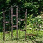 Paravent/séparateur jardin pergola fer style antique 16kg de la marque aubaho image 1 produit