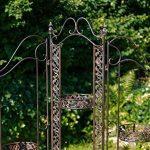 Paravent/séparateur jardin pergola fer style antique 16kg de la marque aubaho image 3 produit