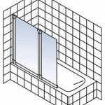 Pare baignoire rabattable, paroi de baignoire réversible, pare-douche pliant 103 x 130 cm, écran baignoire avec 2 volets pivotants, verre transparent, profilés en alu nature de la marque Schulte image 1 produit