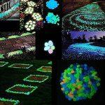 Pawaca Lot de 100galets phosphoresecents pour jardin, chemins, cour, Pot de fleurs, aquarium, piscine-6couleurs de la marque Pawaca image 5 produit