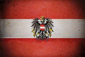 Pays Drapeau–Autriche–Drapeau Austria barschild, dekoschild, Retro de la marque Schatzmix image 0 produit