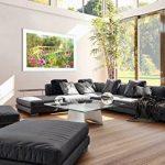 Peinture dans un cadre en bois couleur blanche - Peinture dans le cadre - Impression sur toile - largeur: 120cm, hauteur: 80cm - Image sur toile - Photo N° 2906 - prete a suspendre - encadrée - Tableaux pour la mur - motif moderne - Décoration - pret a ac image 4 produit