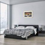 Peinture dans un cadre en bois couleur naturelle - Peinture dans le cadre - Impression sur toile - largeur: 70cm, hauteur: 50cm - Image sur toile - Photo N° 2132 - prete a suspendre - encadrée - Tableaux pour la mur - motif moderne - Décoration - pret a a image 3 produit