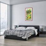 Peinture dans un cadre en bois couleur rouge - Peinture dans le cadre - Impression sur toile - largeur: 55cm, hauteur: 100cm - Image sur toile - Photo N° 2906 - prete a suspendre - encadrée - Tableaux pour la mur - motif moderne - Décoration - pret a accr image 3 produit