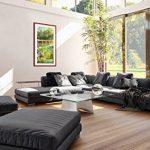 Peinture dans un cadre en bois couleur rouge - Peinture dans le cadre - Impression sur toile - largeur: 55cm, hauteur: 100cm - Image sur toile - Photo N° 2906 - prete a suspendre - encadrée - Tableaux pour la mur - motif moderne - Décoration - pret a accr image 4 produit