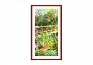 Peinture dans un cadre en bois couleur rouge - Peinture dans le cadre - Impression sur toile - largeur: 55cm, hauteur: 100cm - Image sur toile - Photo N° 2906 - prete a suspendre - encadrée - Tableaux pour la mur - motif moderne - Décoration - pret a accr image 0 produit