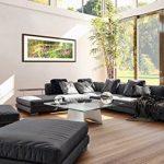 Peinture dans un cadre en bois couleur wengé - Peinture dans le cadre - Impression sur toile - largeur: 120cm, hauteur: 50cm - Image sur toile - Photo N° 2906 - prete a suspendre - encadrée - Tableaux pour la mur - motif moderne - Décoration - pret a accr image 4 produit