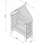 Pergola Siam de jardin à deux places en bois de la marque Jardin-Deco image 1 produit