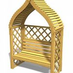 Pergola Siam de jardin à deux places en bois de la marque Jardin-Deco image 3 produit