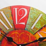 Perla pd Horloge Verre Horloge murale à quartz design rétro design vintage Color env. Ø 30cm de la marque perla pd design image 1 produit