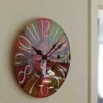 Perla pd Horloge Verre Horloge murale à quartz design rétro design vintage Color env. Ø 30cm de la marque perla pd design image 3 produit