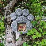 Petcabe Paw Print Mémoires de chien & Tombstones, Polyresin gravé au laser Pierre commémorative d'animal familier, plaques de chien et de chat à la mémoire de chien et chat, dispose d'un cadre photo et un poème de sympathie - intérieur extérieur chien ou image 4 produit