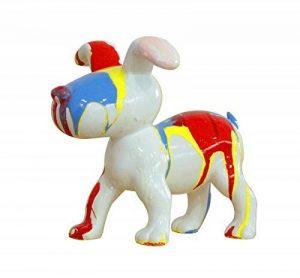 Petit chien sculpture décorative museau bleu - design moderne contemporain de la marque Meubletmoi image 0 produit