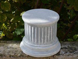 Petit, socle piédestal pilier de pierre en fonte, résistant au gel de la marque gartendekoparadies.de image 0 produit