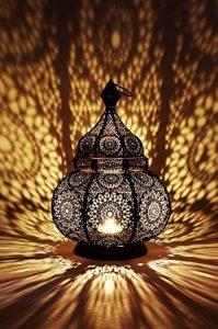 Petite Lanterne marocaine en métal Ziva 30cm noir | Photophore marocain pour l'extérieur au jardin ou l'intérieur sur la table | Lanternes pour bougie | décoration de maison orientale de la marque Marrakesch Orient & Mediterran Interior image 0 produit