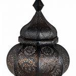 Petite Lanterne marocaine en métal Ziva 30cm noir | Photophore marocain pour l'extérieur au jardin ou l'intérieur sur la table | Lanternes pour bougie | décoration de maison orientale de la marque Marrakesch Orient & Mediterran Interior image 1 produit