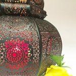 Petite Lanterne marocaine en métal Ziva 30cm noir | Photophore marocain pour l'extérieur au jardin ou l'intérieur sur la table | Lanternes pour bougie | décoration de maison orientale de la marque Marrakesch Orient & Mediterran Interior image 4 produit