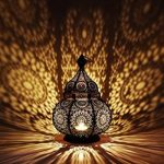 Petite Lanterne marocaine en métal Ziva 30cm noir | Photophore marocain pour l'extérieur au jardin ou l'intérieur sur la table | Lanternes pour bougie | décoration de maison orientale de la marque Marrakesch Orient & Mediterran Interior image 3 produit