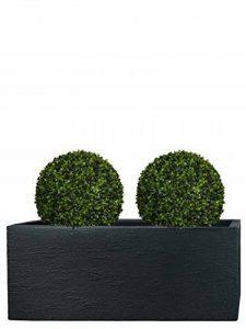 PFLANZWERK® Pots de fleurs TUB Jardinière Anthracite Plastique 27x80x30cm *Résistant au gel* *Protection UV* *Qualité européenne* de la marque Pflanzwerk image 0 produit
