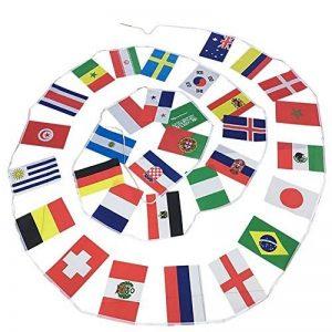Phonillico Banderole Bannière 9M Flag Drapeaux 32 Pays Equipe Supporter Coupe du Monde FIFA 2018 Russie Football de la marque Phonillico image 0 produit