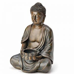 Photophore Bouddha décorative Figurine Sculpture Statue Feng Shui 23cm jardin NEUF de la marque SVITA image 0 produit