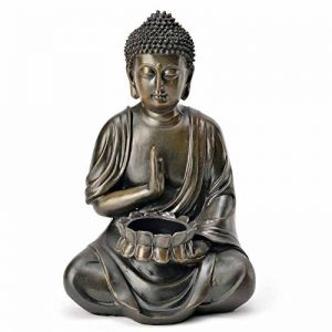 Photophore Bouddha décorative Figurine Sculpture Statue Feng Shui 24cm jardin NEUF de la marque SVITA image 0 produit