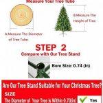 Pied de sapin de Noël en fer Ouvin 45,7cm, diamètre 1,2 m, coussin en caoutchouc avec vis , Métal, Green, Taille L de la marque Ouvin image 1 produit