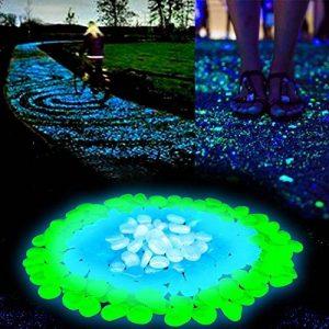 Pierre Fluorescente, 200 Pcs Galets Lumineux, Cailloux Lumineux Artificiels pour Aquarium, Chemin de Jardin et Piscine (Vert et Bleu) de la marque niceEshop image 0 produit