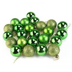 Pixnor 24pcs Christmas Baubles ornements d'arbre de Noël décoration boules (4cm, vert) de la marque Pixnor image 0 produit