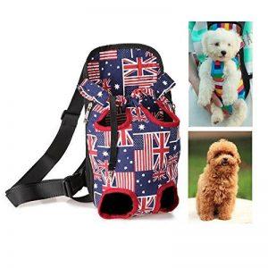 PLHF Sac de poitrine pour animaux de pays drapeau Voyager avec les épaules portatives Sac de poitrine de chien Forfait chats et chiens de la marque PLHF image 0 produit
