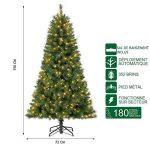Polygroup Sapin de Noël Vert Lumineux 150 cm avec sac de rangement de la marque Polygroup image 1 produit