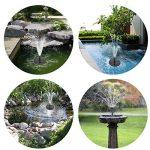 Pompe à eau solaire Beva de 1,4 W, pour fontaine et bain d'oiseaux, avec différentes têtes de pulvérisation pour bassin, piscine et décoration de jardin de la marque BEVA image 6 produit