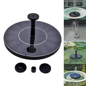 Pompe de fontaine solaire, YoiYee extérieure 1.4W solaire alimenté en eau arrosant submersible pompe Kit pour bain d'oiseaux, jardin, étang, piscine, réservoir de poissons, Aquarium, décoration de la maison, noir de la marque YoiYee image 0 produit