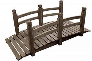 Pont de jardin extérieur décoration bassin fontaine bois passerell étang 150 cm de la marque Expo image 0 produit