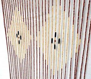 Porte Rideaux en perles Moustiquaire Store Séparateur Bois de bambou de la marque FDD4U image 0 produit