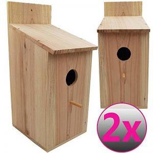 Powerpreise24 Nichoir pour oiseaux à suspendre 43 x 19 x 18 cm en bois de pin - Nichoir naturel, stable et résistant aux intempéries de la marque Powerpreise24 image 0 produit