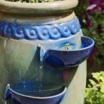 Primrose Jet d'eau relaxant Dempsy en faïence, fontaine à 4étages, et pot de fleurs de la marque Primrose image 3 produit
