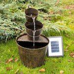 Primrose Solar Metal Bucket Cascade - H49cm - by Solaray de la marque Primrose image 2 produit