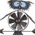 Pro Garden Girouette avec mini éolienne Motif chouette 150 cm de la marque PROGARDEN image 1 produit