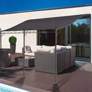 Probache Auvent pergola adossé pour terrasse GM 3 x 4 m avec toile grise de la marque Probache image 0 produit