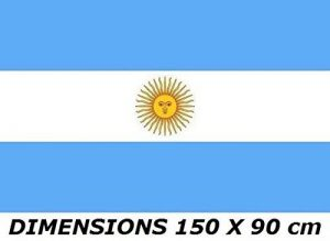 *** PROMOTION *** Drapeau Argentine - 150 x 90 cm (Uniquement chez le vendeur PLANETE SUPPORTER = 100% conforme à l'image) de la marque Planete Supporter image 0 produit