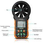 Protech MS6252A Anémomètre numérique Ordinateur de poche LCD Électronique Vitesse du vent Mesureur de volume d'air Rétroéclairage de la marque Protmex image 1 produit