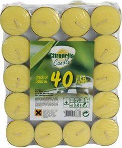 Provence Outillage Bougie Citronnelle avec Coupelle Aluminium Jaune 40 Pièces 08261 de la marque Provence Outillage image 0 produit