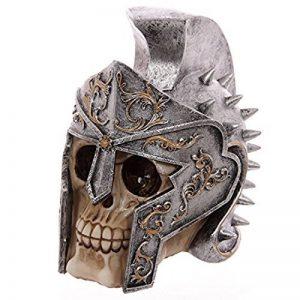 Puckator SK221 Crâne de décoration portant Casque de gladiateur Résine Beige/Gris/Noir 18 x 12,5 x 17,5 cm de la marque Puckator image 0 produit