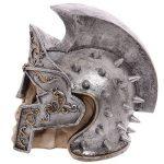 Puckator SK221 Crâne de décoration portant Casque de gladiateur Résine Beige/Gris/Noir 18 x 12,5 x 17,5 cm de la marque Puckator image 1 produit