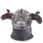 Puckator SK236 Crâne de décoration portant Casque avec cornes de viking Résine Beige/Gris/Noir 16 x 12 x 11,5 cm de la marque Puckator image 2 produit