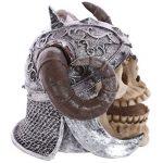 Puckator SK236 Crâne de décoration portant Casque avec cornes de viking Résine Beige/Gris/Noir 16 x 12 x 11,5 cm de la marque Puckator image 3 produit