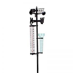 Pueri Station météo avec thermomètre baromètre pluviomètre pluie température précipitation vent direction avec Udomètre en plastique pour jardin de la marque Pueri image 0 produit
